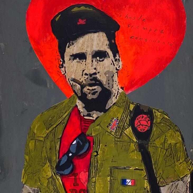 """Il murales di  Tvboy dedicato a Messi ed intitolato """"Hasta siempre comandante!"""""""