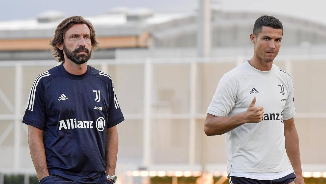 Andrea Pirlo e Cristiano Ronaldo. Getty