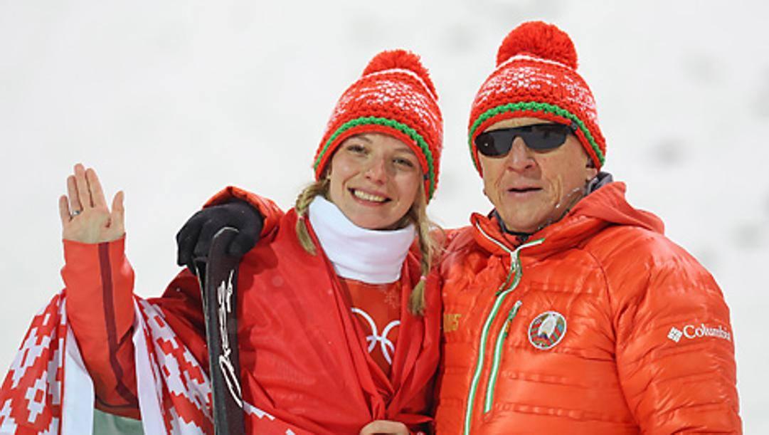 Anna Guskova e il coach Nikolai Kozeko