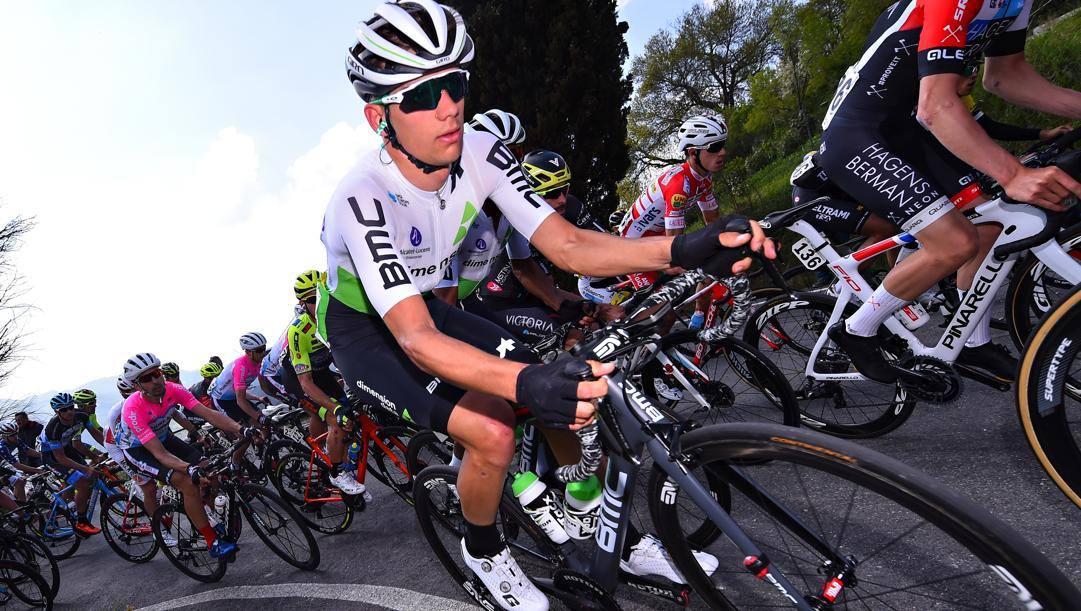 Matteo Sobrero durante la Coppi-Bartali 2019. Bettini