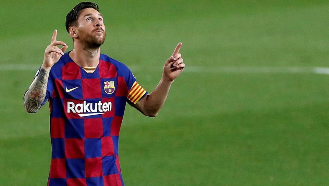 Lionel Messi, leggenda del Barcellona. EPA