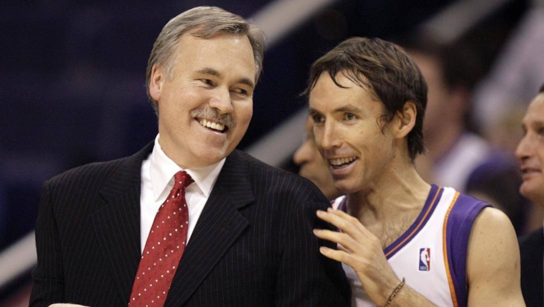 Mike D'Antoni e Steve Nash insieme ai Suns nel 2008. Ap