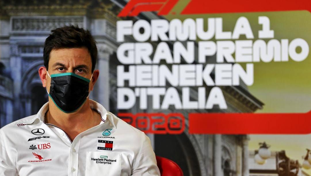 Toto Wolff, capo della Mercedes, a Monza. Getty