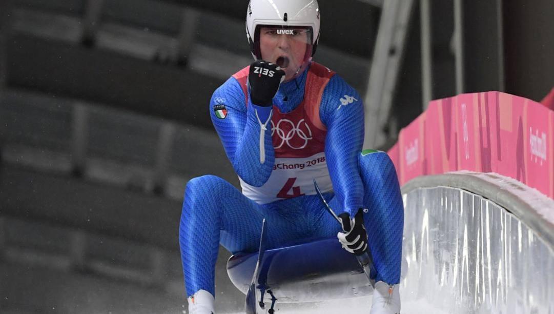 L'azzurro Dominik Fischnaller. Afp