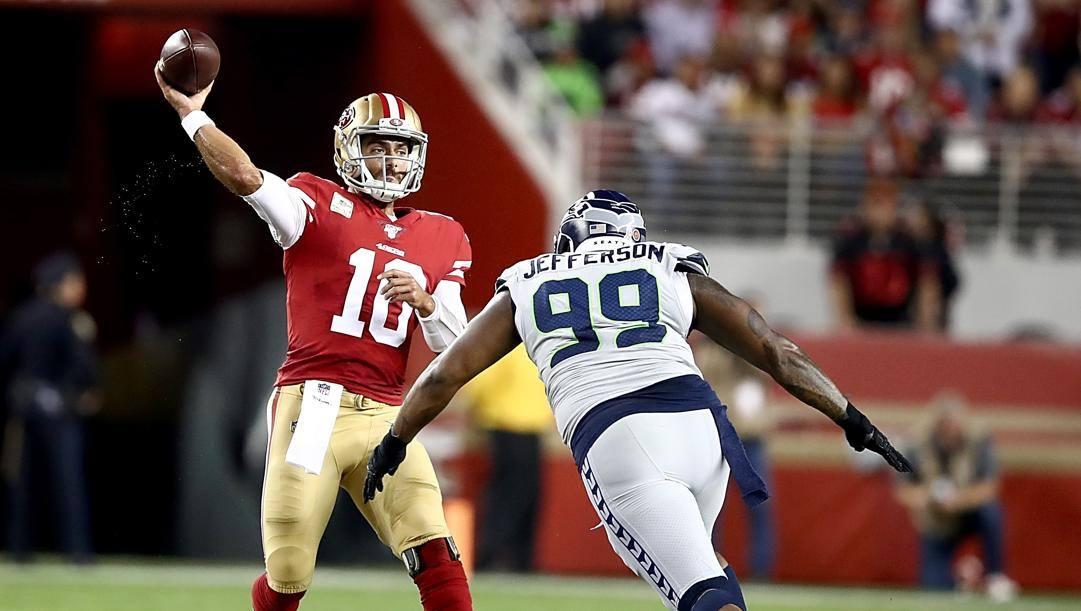 Jimmy Garoppolo, quarterback dei San Francisco 49ers. Afp
