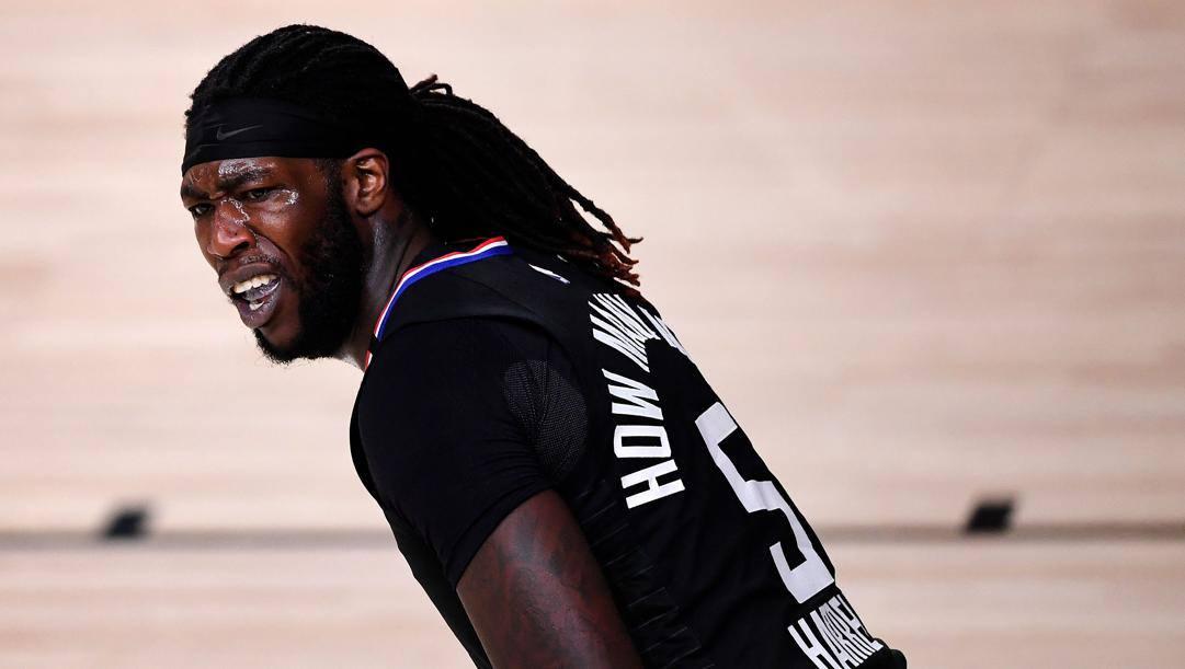 Montrezl Harrell, 26 anni, centro di 201 cm e 108 kg alla terza stagione coi Clippers. Afp