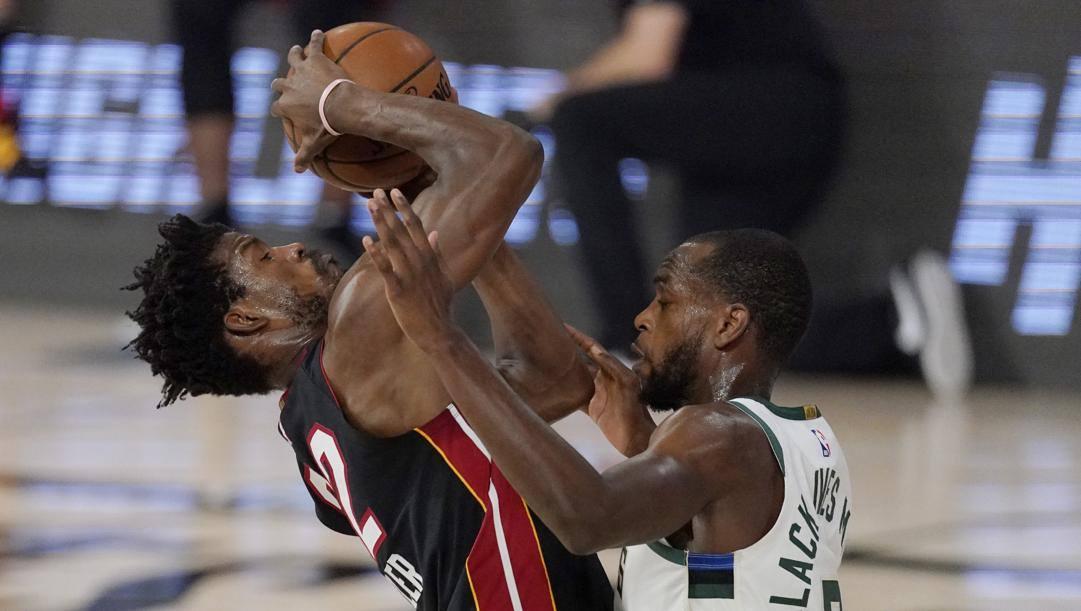 Jimmy Butler, guardia dei Miami Heat. Lapresse