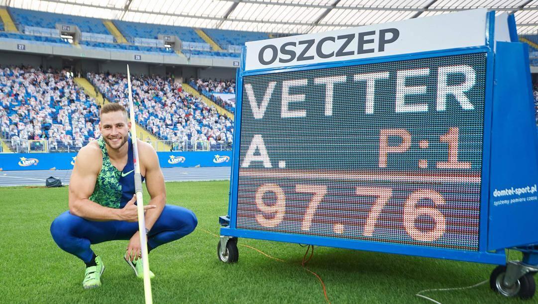 Vetter, autore di un tiro quasi da record. AFP