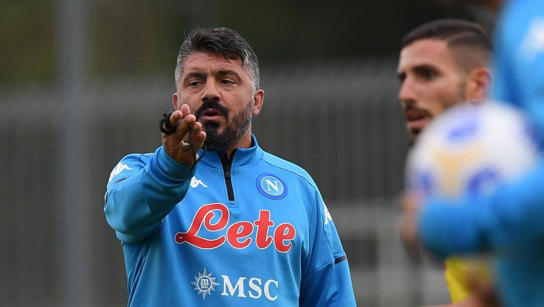 Rino Gattuso, allenatore del Napoli. Getty