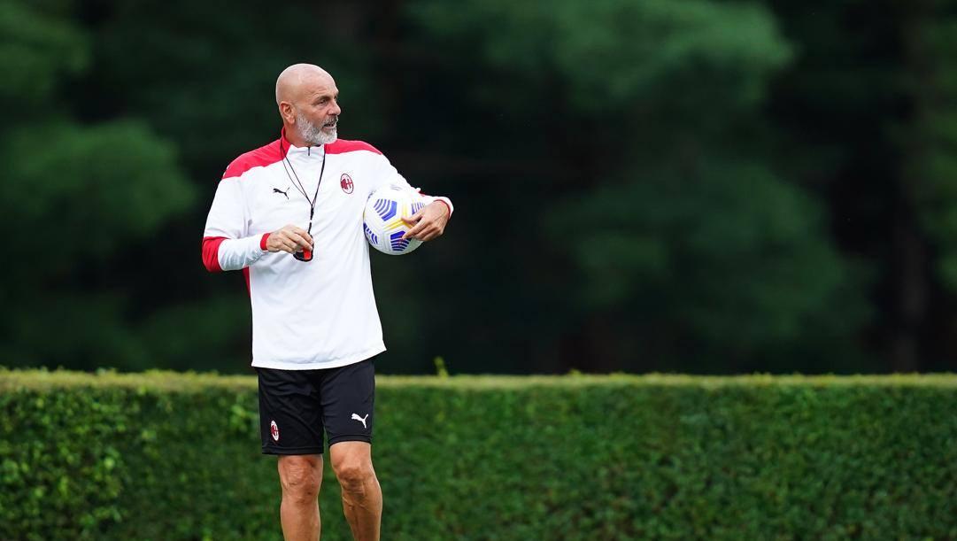 Pioli, allenatore del Milan. Lapresse