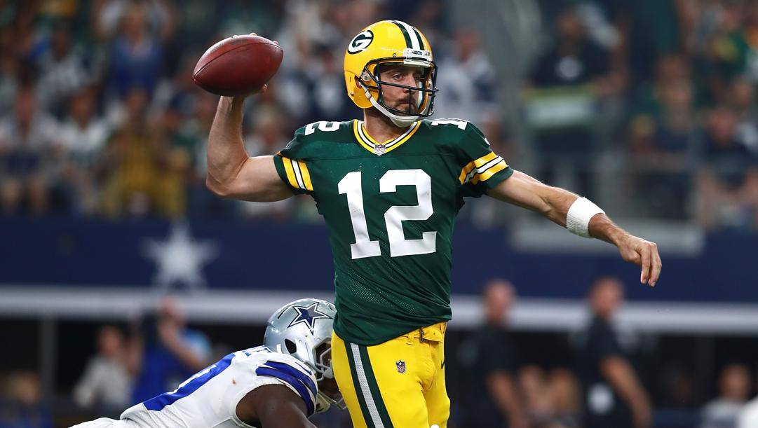 Aaron Rodgers, 36 anni, quarterback dei Green Bay Packers. Afp