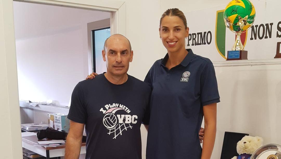 Elitza Vasileva col tecnico Carlo Parisi