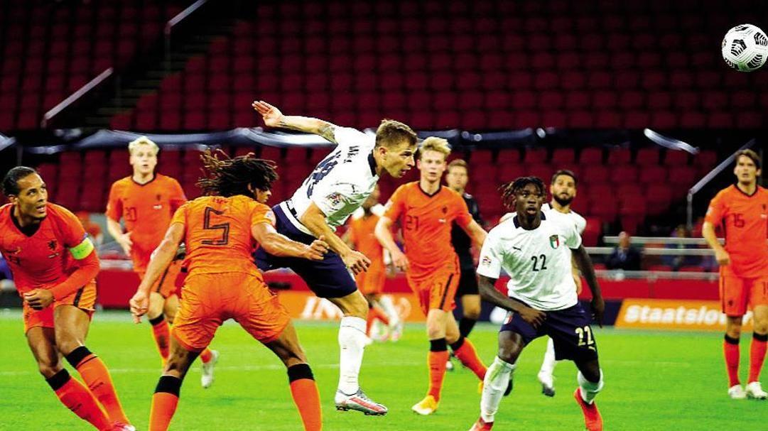 Il gol vittoria di Barella contro l'Olanda