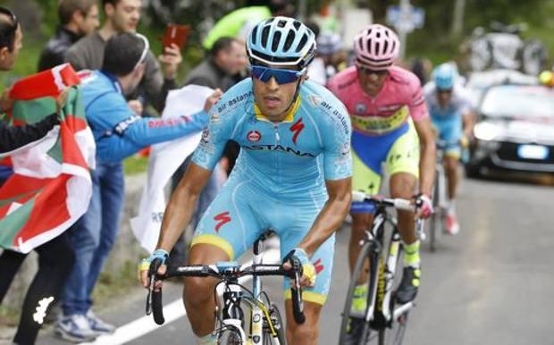 Mikel Landa stacca Alberto Contador al Giro d'Italia 2015 BETTINI