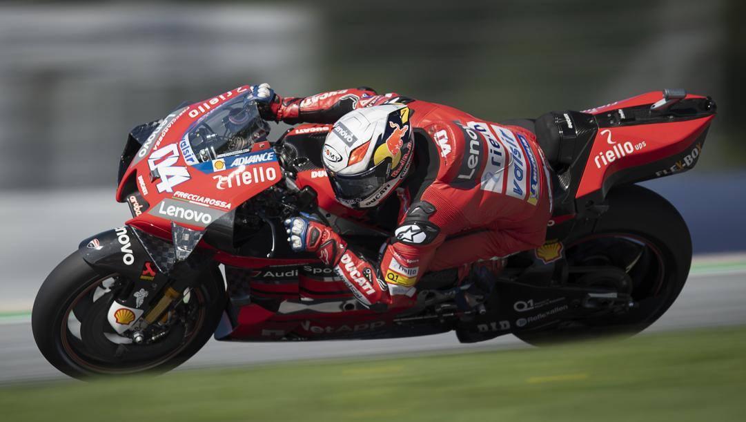 Andrea Dovizioso, 34 anni, in azione con la Ducati in Austria. Getty Images