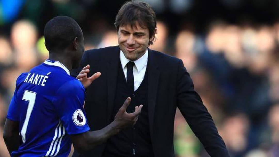 N'Golo Kanté e Antonio Conte ai tempi del Chelsea