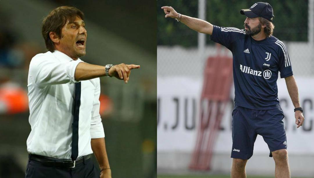 Antonio Conte e Andrea Pirlo