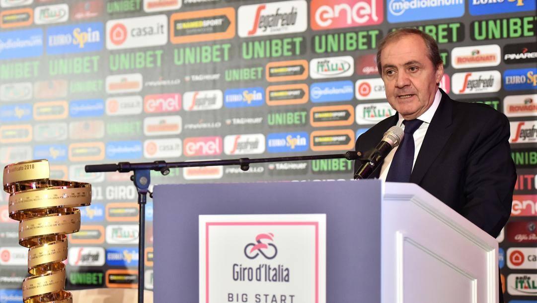 Mauro Vegni, direttore del Giro d'Italia. Lapresse