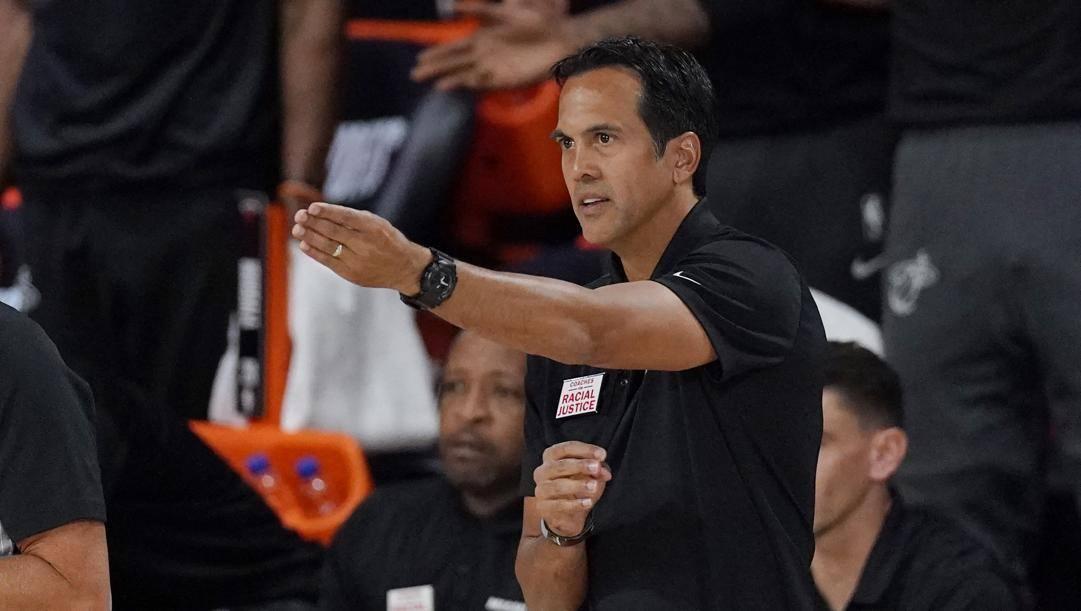 Erik Spoelstra, head coach di Miami. Lapresse