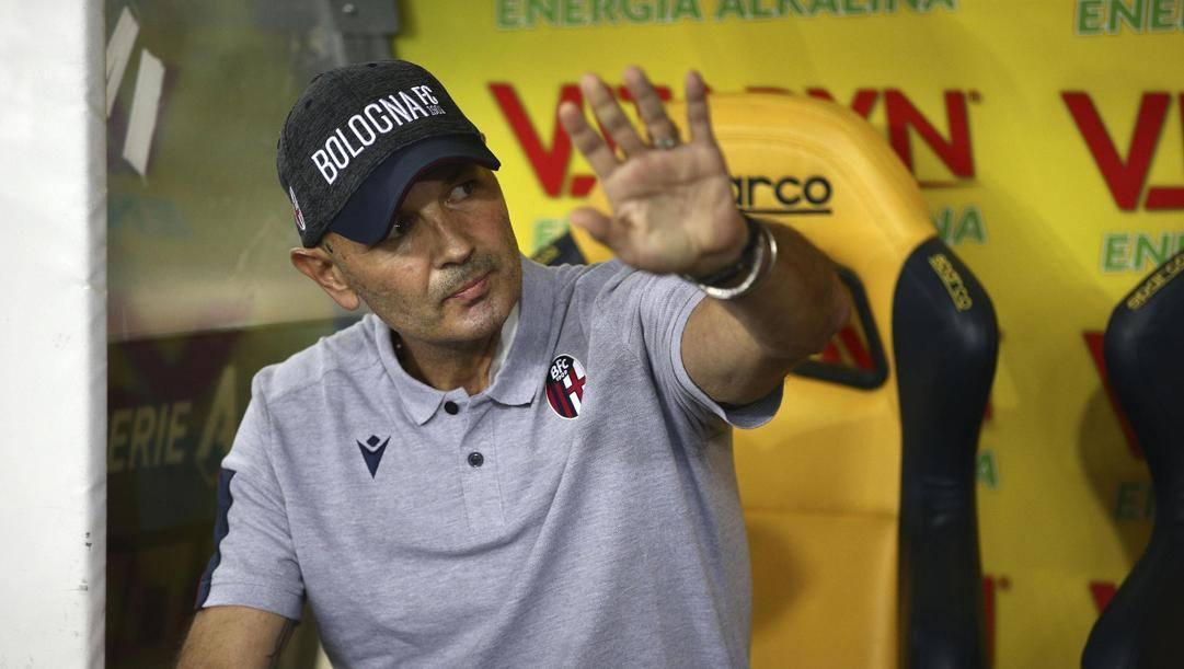 Sinisa Mihajlovic, allenatore del Bologna. Ansa