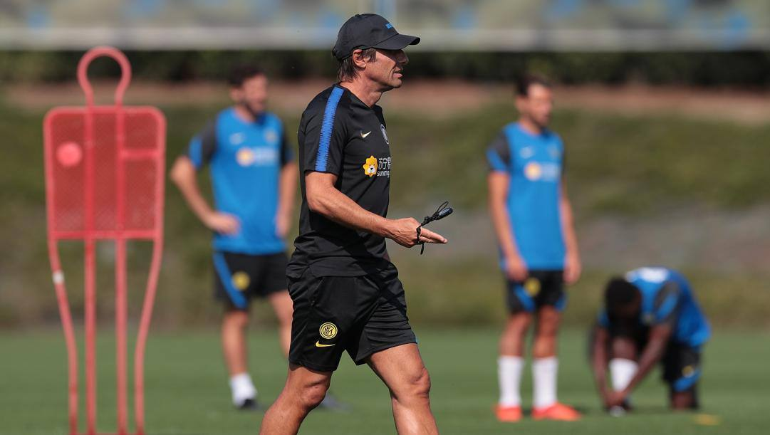 Antonio Conte, 51, in allenamento. Getty