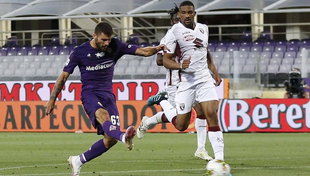 Il gol di Cutrone nell'ultimo Fiorentina-Torino. Getty