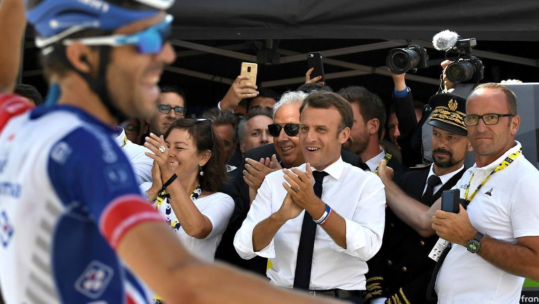 Emanuel Macron al Tour de France 2019 (Bettini)