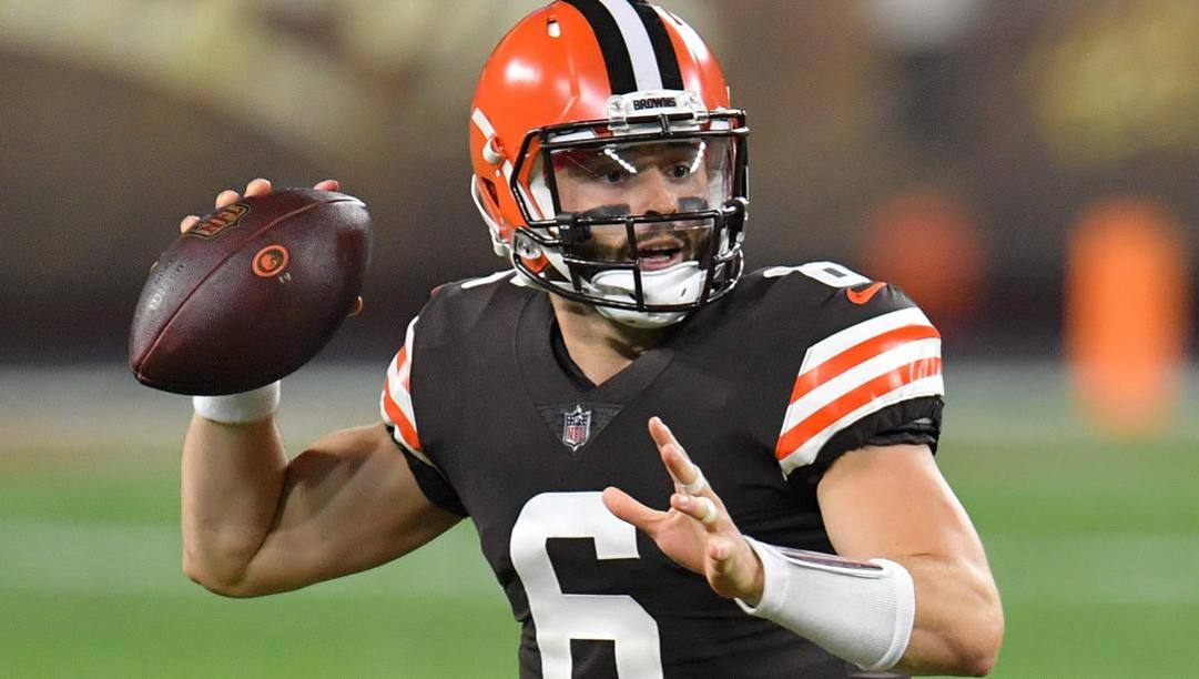 Baker Mayfield, numero 6 dei Cleveland Browns, contro i  Cincinnati Bengals (Getty Images)