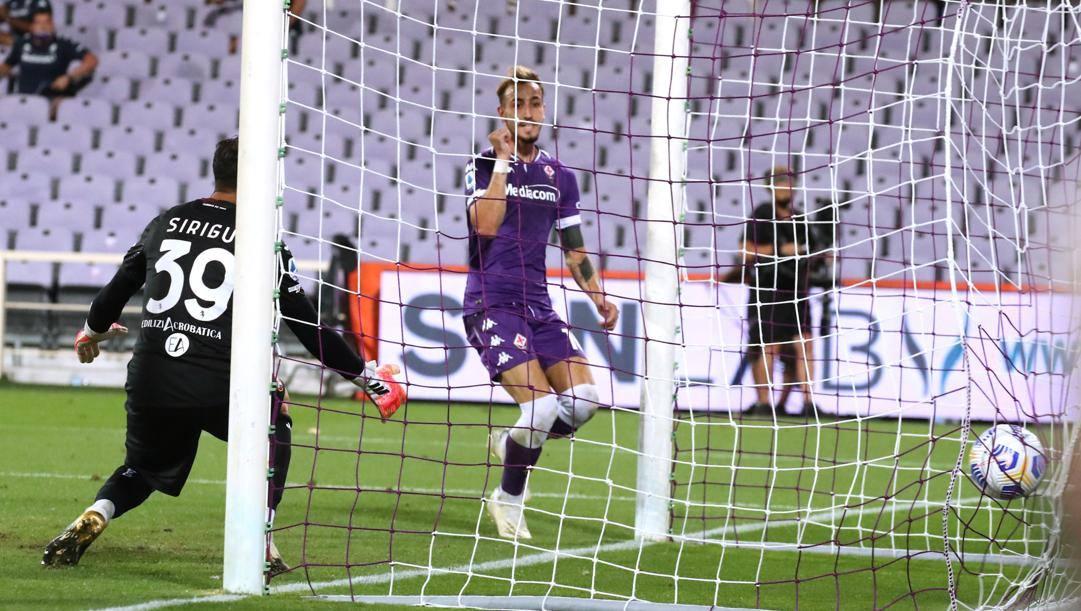 Il gol di Castrovilli. LaPresse