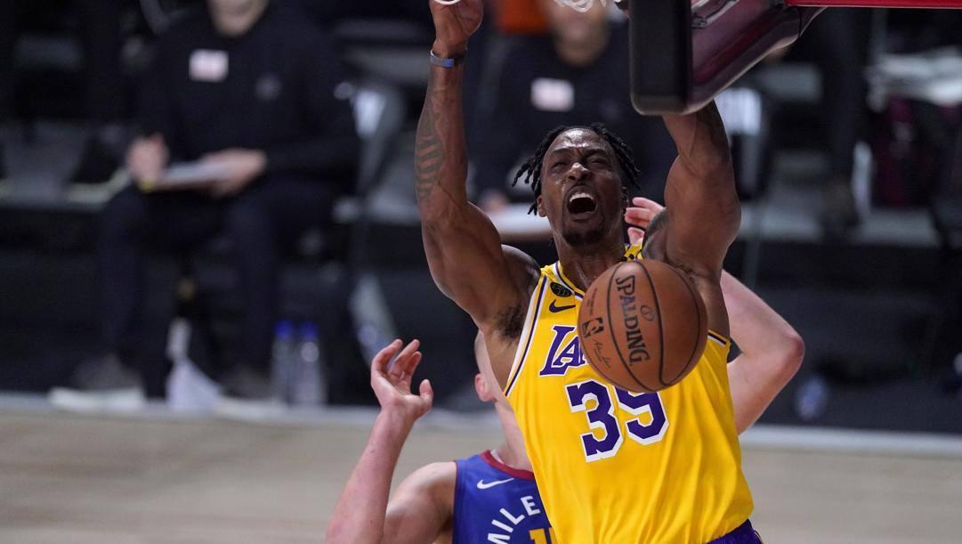 Dwight Howard, 34 anni, protagonista della vittoria Lakers in gara-1. LaPresse