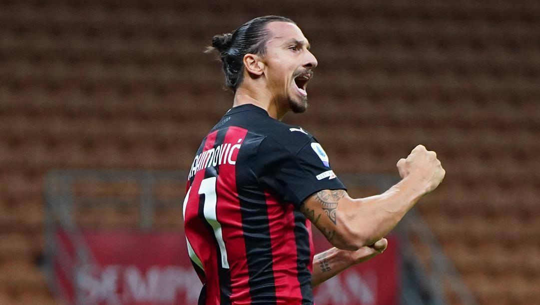 Tutta la grinta di Zlatan Ibrahimovic, 38 anni. Lapresse
