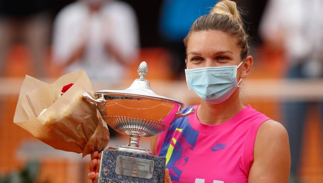 La vincitrice del torneo Simona Halep. AFP