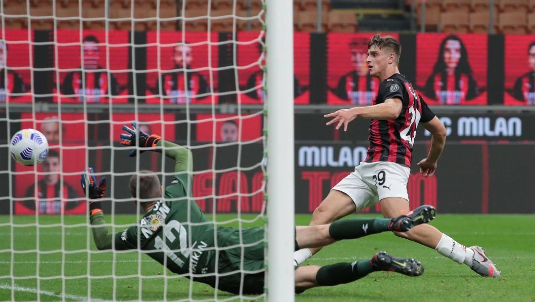 Il gol di Lorenzo Colombo al Bodoe Glimt. Getty