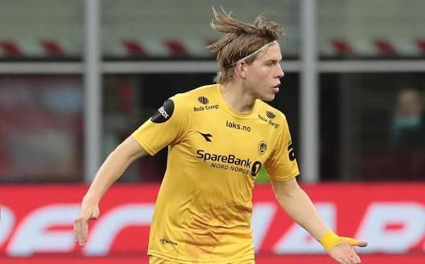 Jens Petter Hauge, 20 anni, attaccante del Bodoe Glimt. Getty