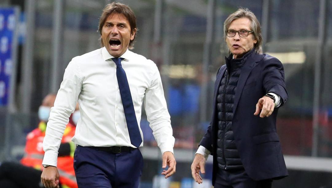 Tutta la grinta di Antonio Conte, 51 anni. Ansa