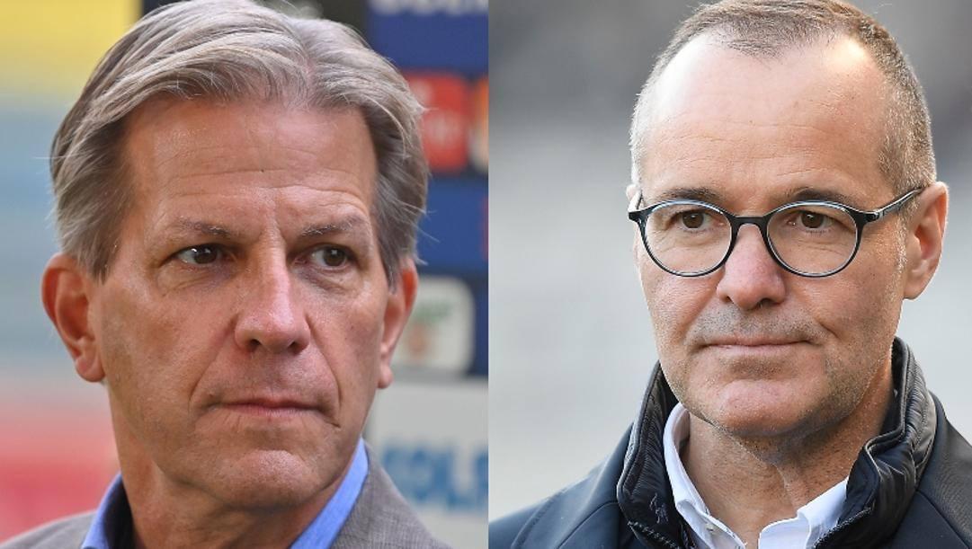 Da sinistra a destra, Kyle Krause presidente del Parma e Joey Saputo presidente del Bologna