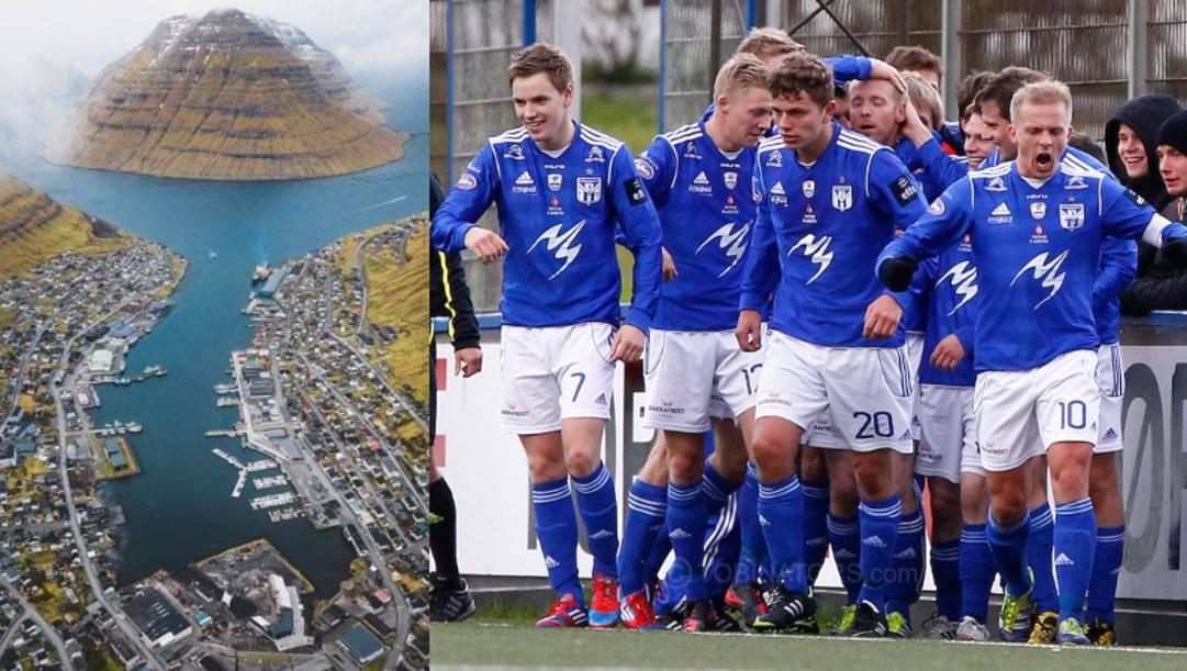 La città di Klaksvík e la squadra