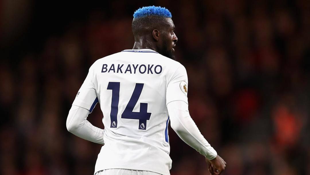 Bakayoko con la maglia del Chelsea. GETTY