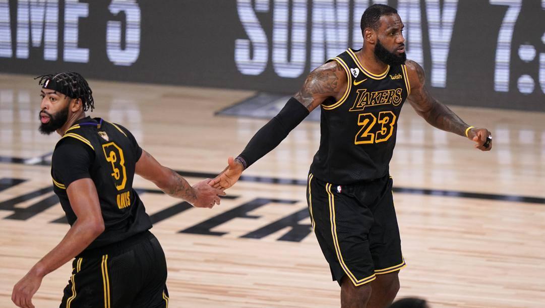Anthony Davis, 27 anni, e LeBron James, 35, prima stagione insieme ai Lakers. Ap
