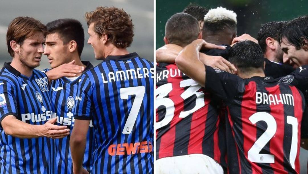 Le esultanze di Atalanta e Milan