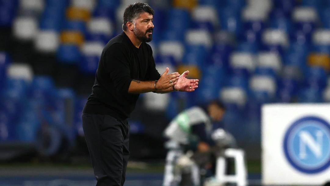 Gattuso, allenatore del Napoli. LAPRESSE