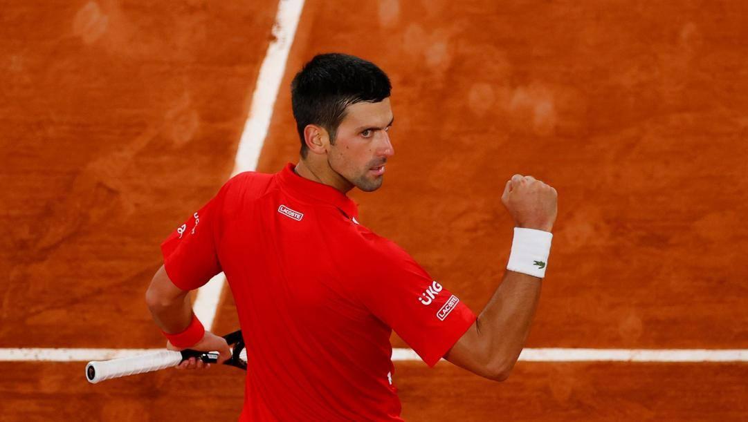 Djokovic festeggia. AFP