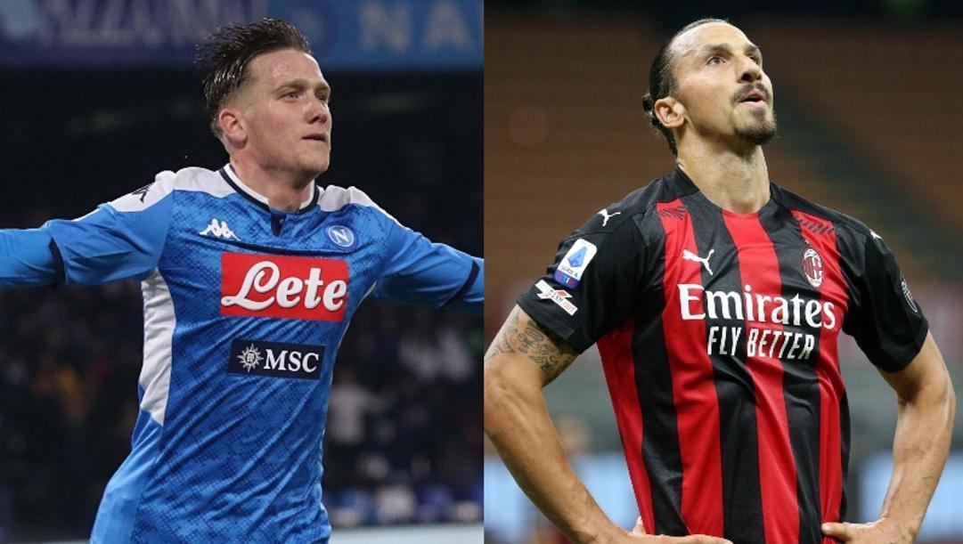 Zielinski e Ibrahimovic: due dei tanti positivi al Covid.