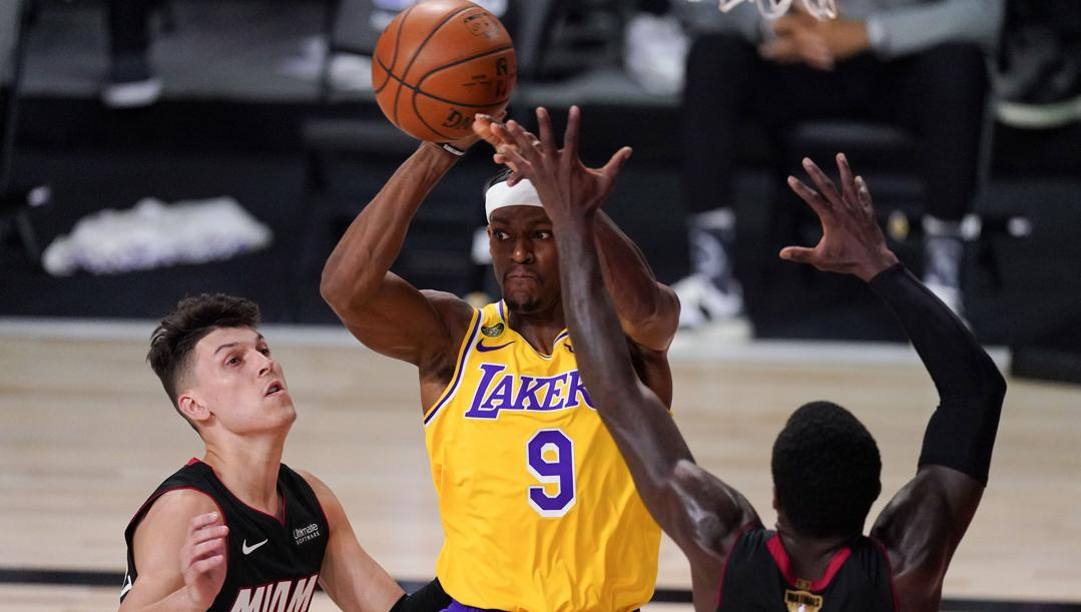 Rajon Rondo, 34 anni, determinante nella vittoria dei Lakers. Ap
