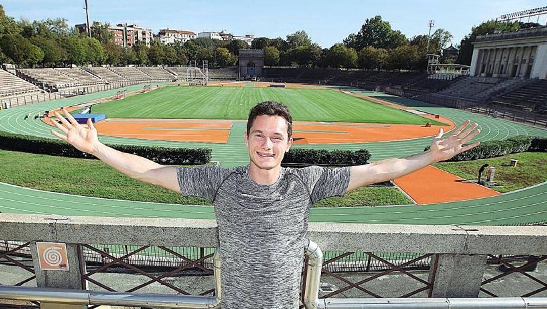 Filippo Tortu, 22 anni, nella nuova Arena di Milano. Colombo