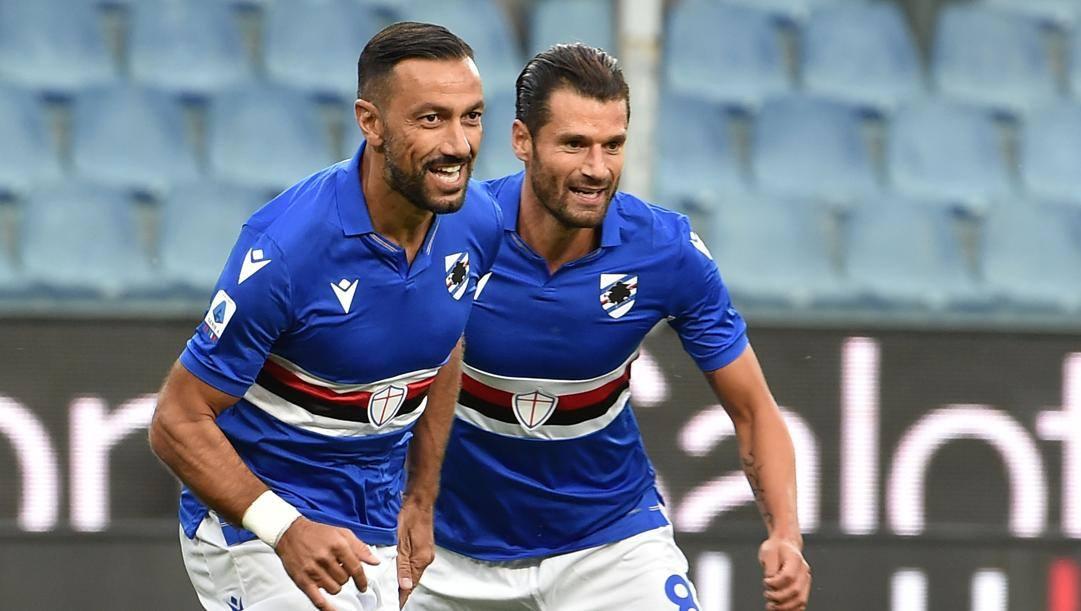 Fabio Quagliarella e Antonio Candreva. Getty