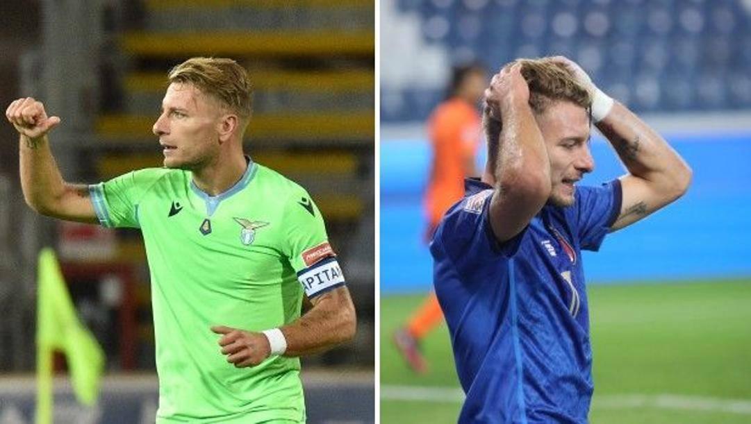 Ciro Immobile, 30 anni, con la Lazio e in Nazionale