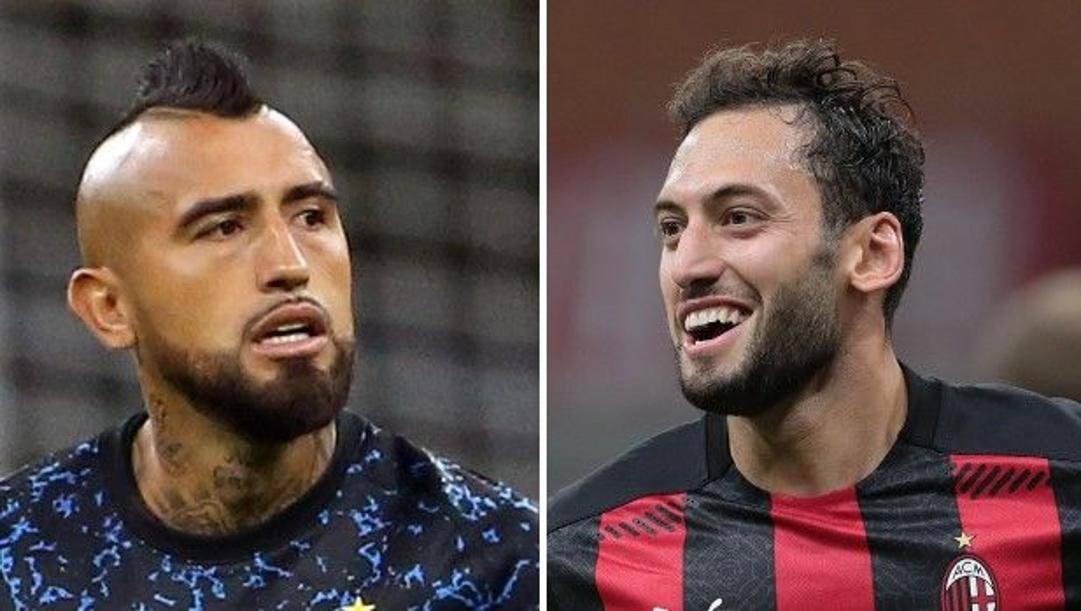 Arturo Vidal, 33 anni, e Hakan Calhanoglu, 26