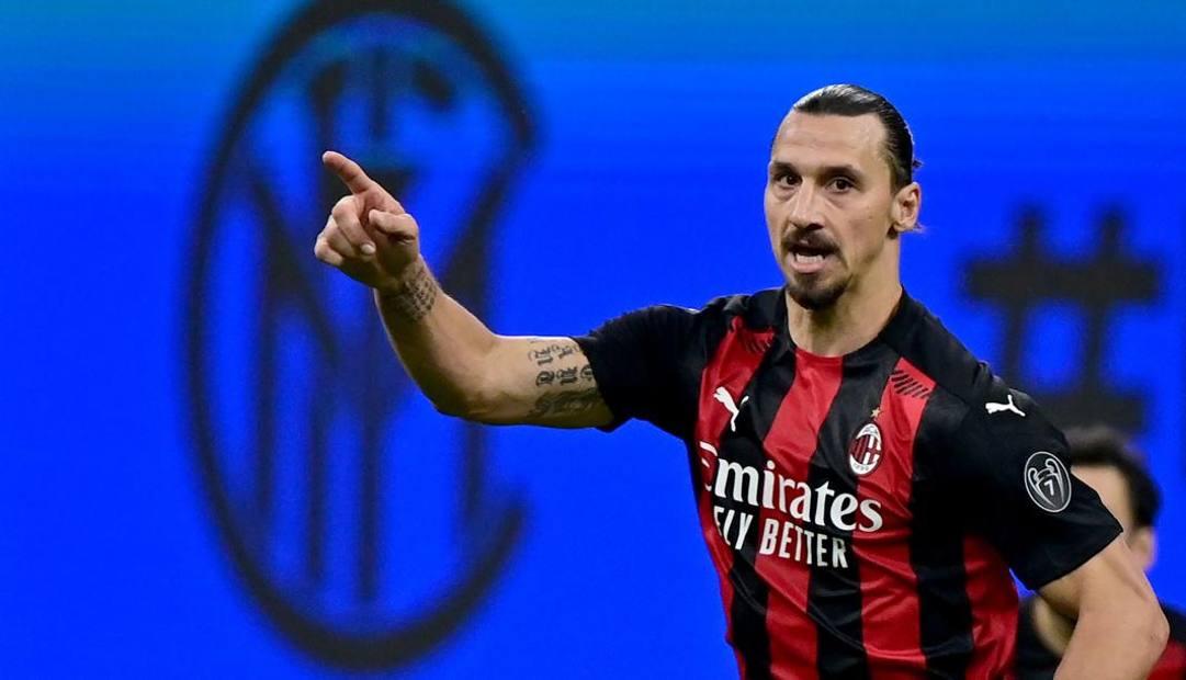Zlatan Ibrahimovic, mattatore del derby Inter-Milan. Afp