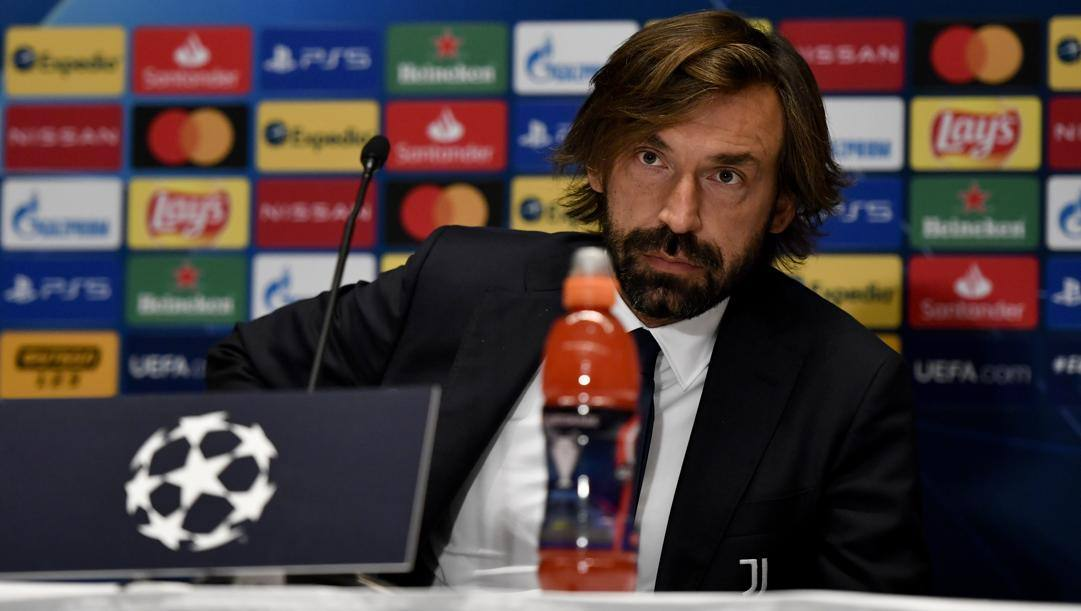Pirlo in conferenza. GETTY